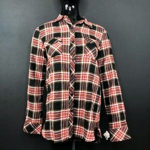 NWT Men's Red & Black Flannel